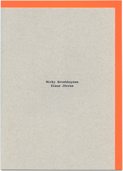 Katalog NICKY BROEKHUYSEN/KLAUS JÖRRES, Diamondpaper Publishing Berlin, 2011