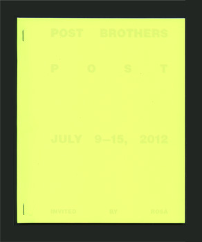 Katalog POST BROTHERS POST, Invited by Rosa/Galerie Kamm, 2012
